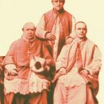 Mons. Aneiros con los obispos Castellanos y Espinoza