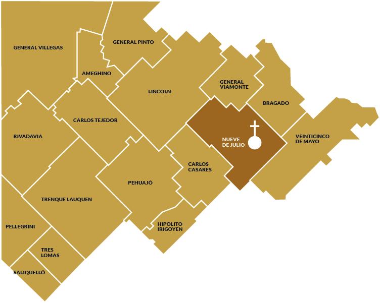 mapa partidos diocesis