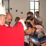 Visita del obispo T. Mosconi al penal de Las Tunas