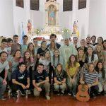 Mons. Torrado Mosconi con los misioneros2018