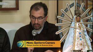 Monseñor Gustavo Carrara, obispo auxiliar de Buenos Aires
