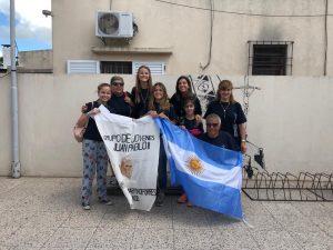 Jóvenes de la parroquia de Porres (Bragado)  antes de la partida