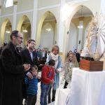 Ofrenda floral a la Virgen de Luján durante el tedeum del 25 de mayo 2018