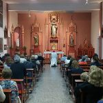 El obispo presidió el rezo del Rosario  por la paz